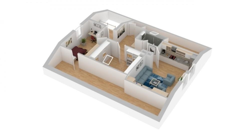 3-D Skizze Dachgeschoss