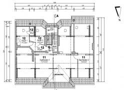 Grundriss Dachboden Ist-Zustand