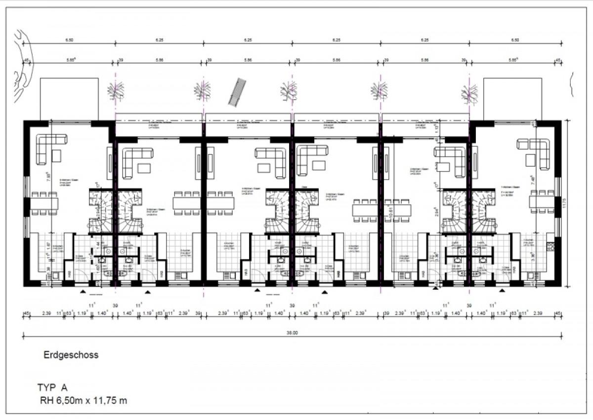 Gebäude 1-6 Erdgeschoss
