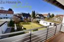 Blick vom Balkon in den Südgarten