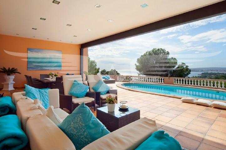 Lounge mit Meerblick