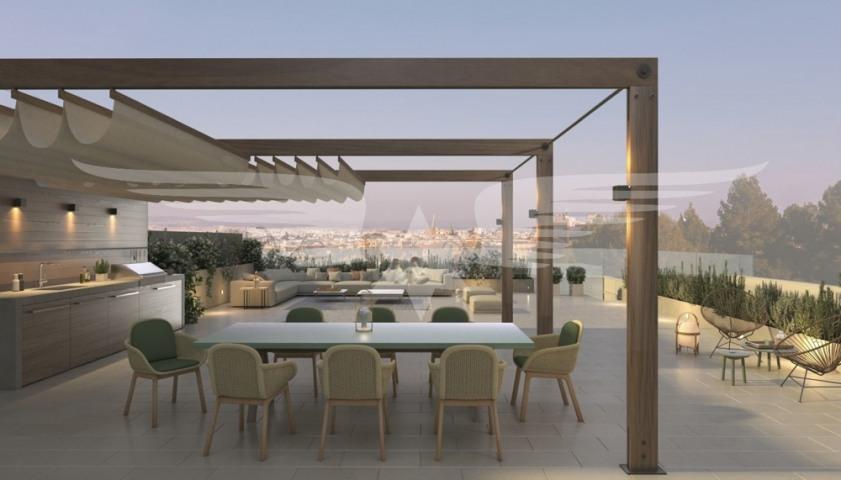 Visualisierte Dachterrasse Penthouse