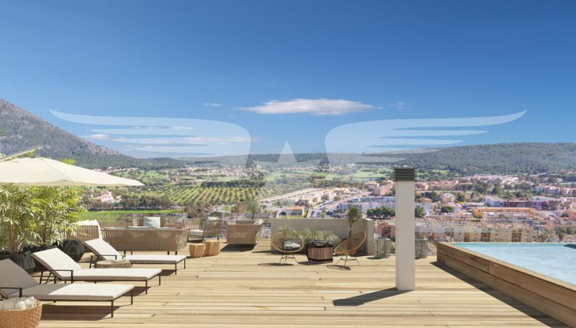 Visualisierte Dachterrasse
