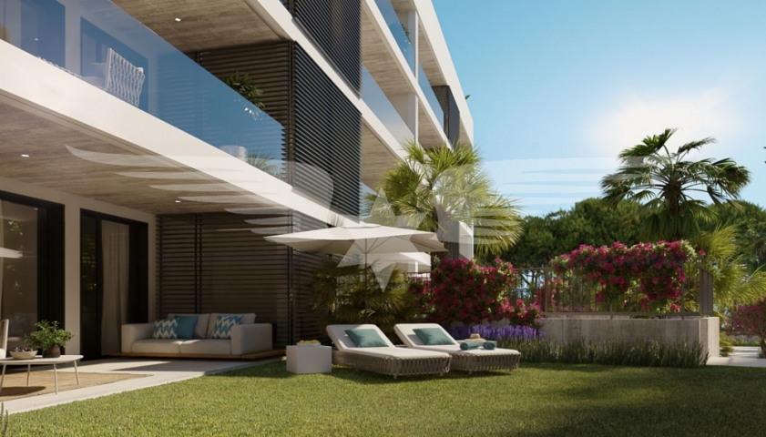Visualised garden flat