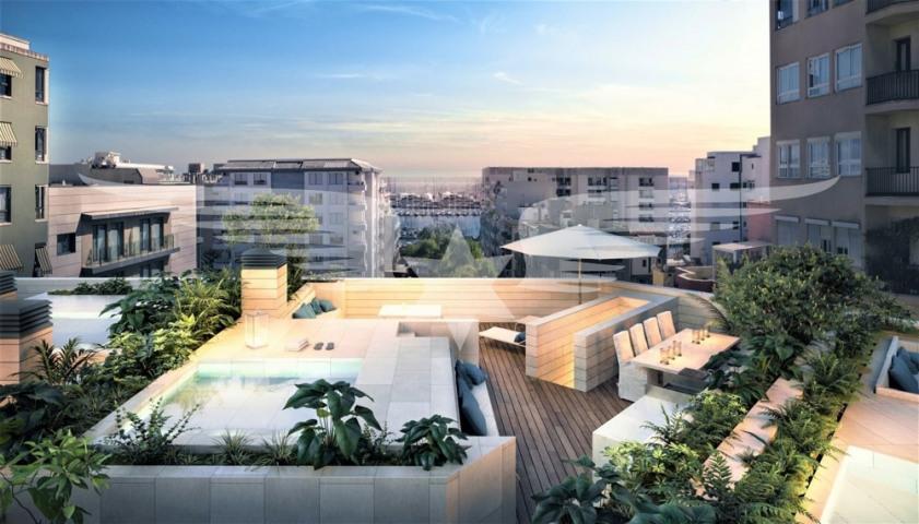 Visualisierte Penthouseterrasse