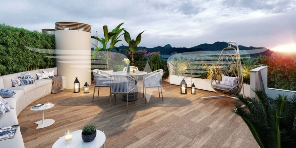 Visualized roof terrace