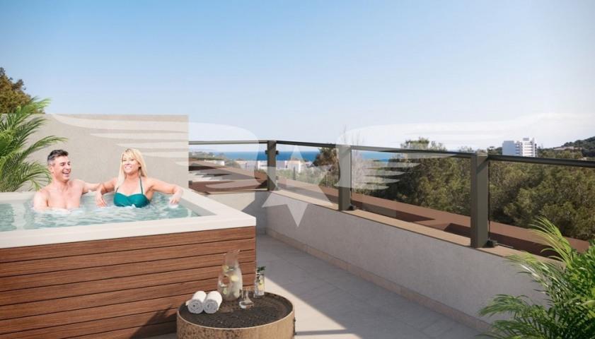 Visualised roof terrace