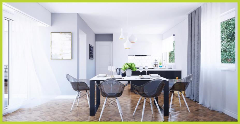 Visualisierung Küchen- und Essbereich