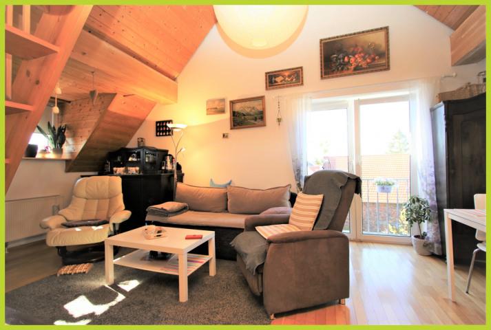 Wohn- Essbereich mit französischen Balkon