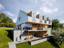 Visualisierung projektiertes Doppelhaus