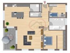 Grundriss Wohnung 3 - 1 OG