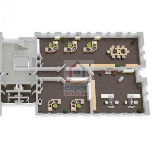 3D Ansicht Bürofläche 240 m²