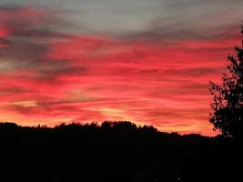 Sonnenuntergang vom Balkon