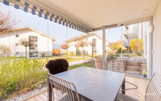 Verglaste Terrasse