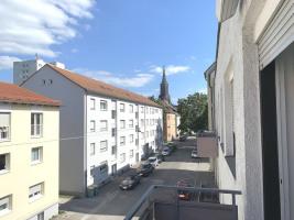Die Sicht vom Balkon