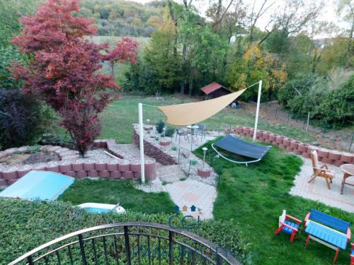Gartenansicht vom Balkon