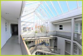 Hausflur Atrium mit Glasdach