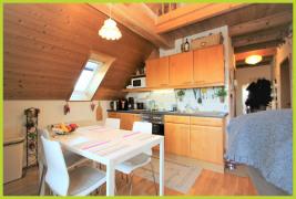 Wohn- Essbereich mit Küchenzeile