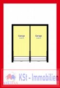 Skizze zwei Garagen