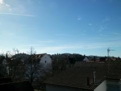 Blick von Dachterrasse richtung Lorettoberg und Schönberg