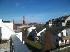 Blick von Dachterrasse Richtung City