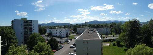 Blick vom Süd-Ost-Balkon