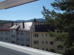 Blick aus Dachfenster Wohnzimmer