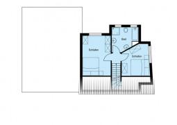 Grundriss Dachgeschoss -blauer Teil