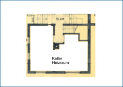 Grundrissskizze Keller
