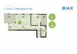 1. und 2. Obergeschoss_Wohnungen 01 + 08
