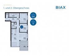 Grundriss Wohnung 04 und 11