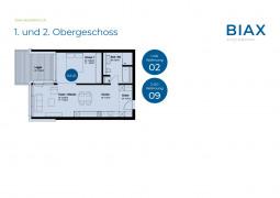 1. und 2. Obergeschoss_Wohnungen 02 + 09