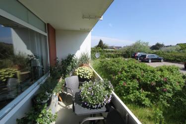 Balkon in Ostausrichtung