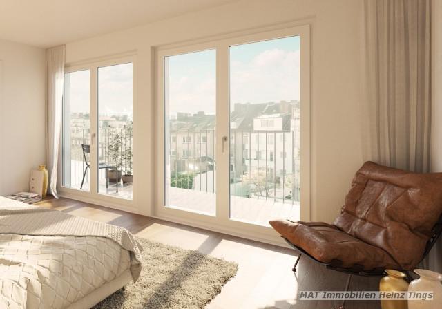 Ausschnitt Schlafen mit Balkon
