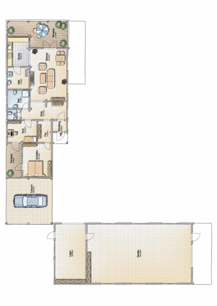 Wohnhaus + Lager