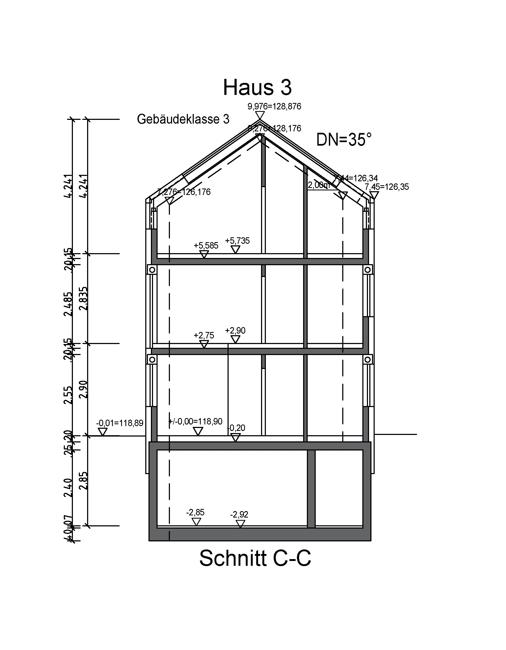 Schnitt C-C Haus 3