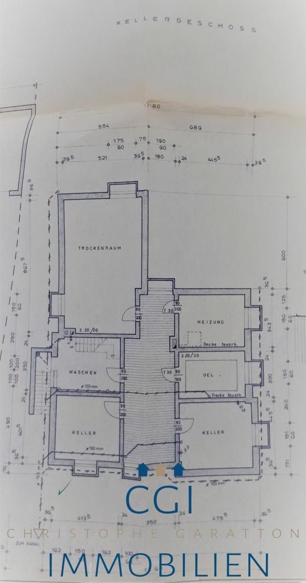Lageplan Kellergeschoss
