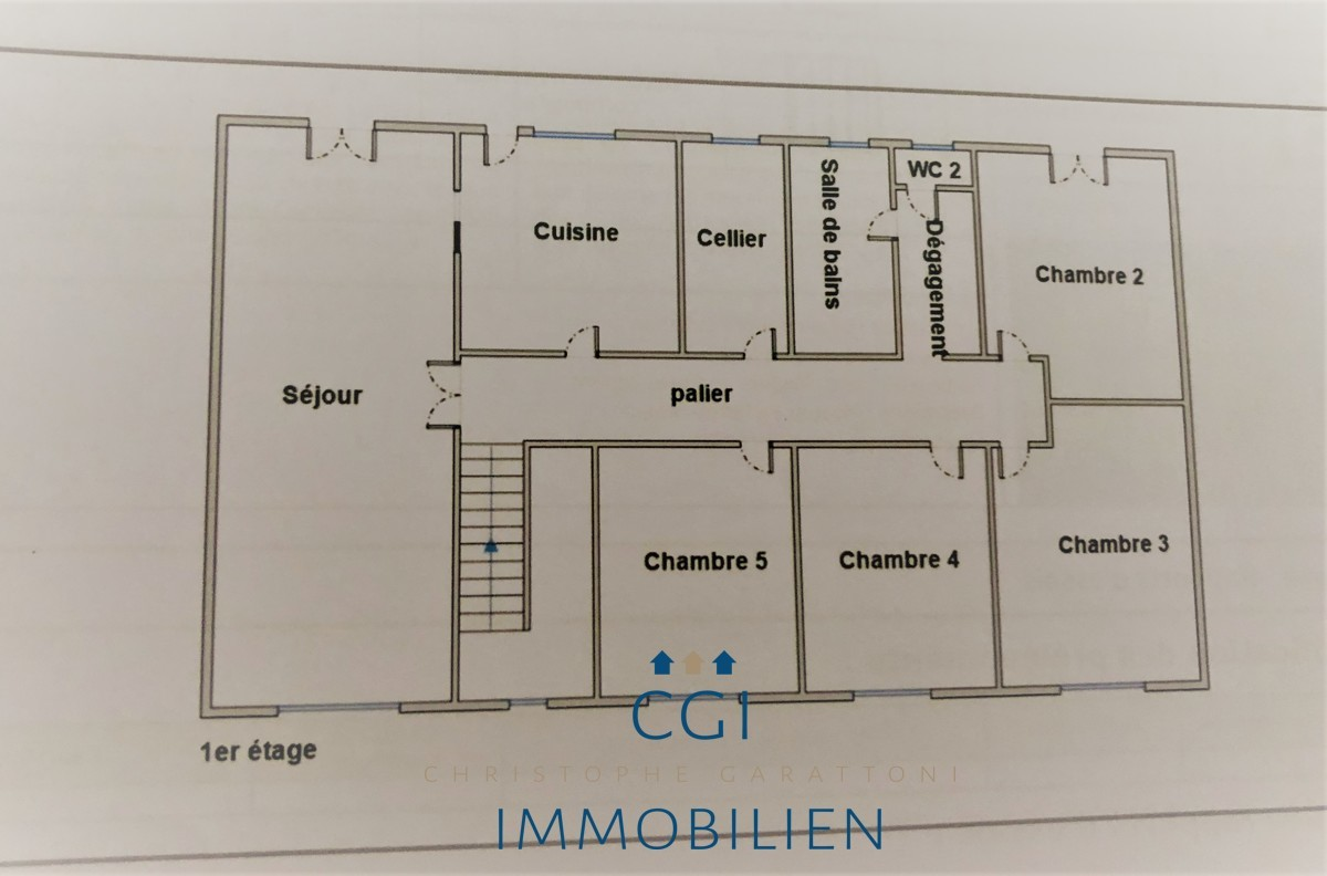 1. Etage rechte Haushäfte