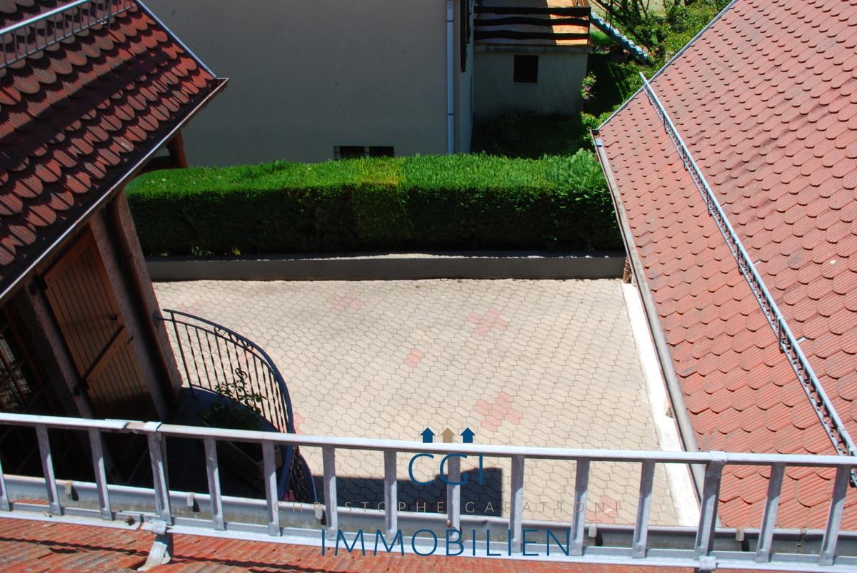 Ausblick in den Innenhof