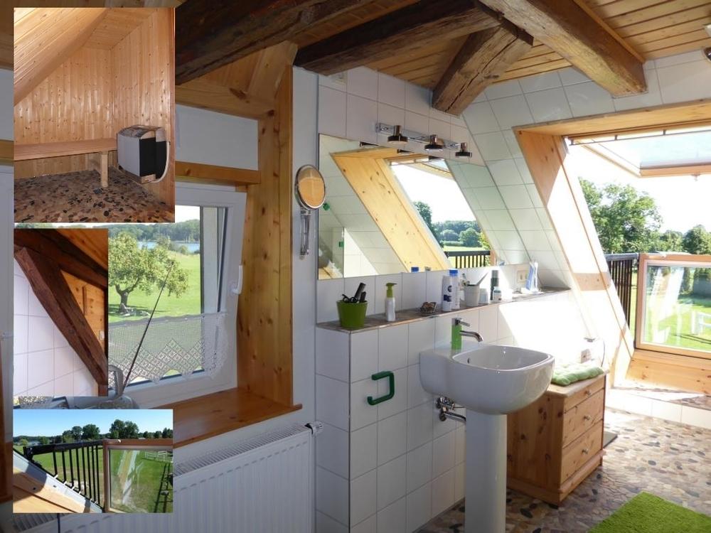 (10) Badezimmer + Sauna im Dachgeschoss