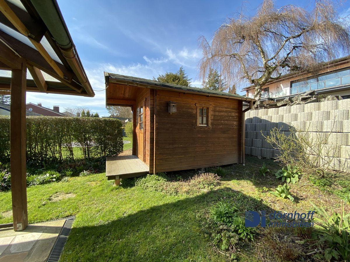 Gartenhaus, Garten hintere Seite