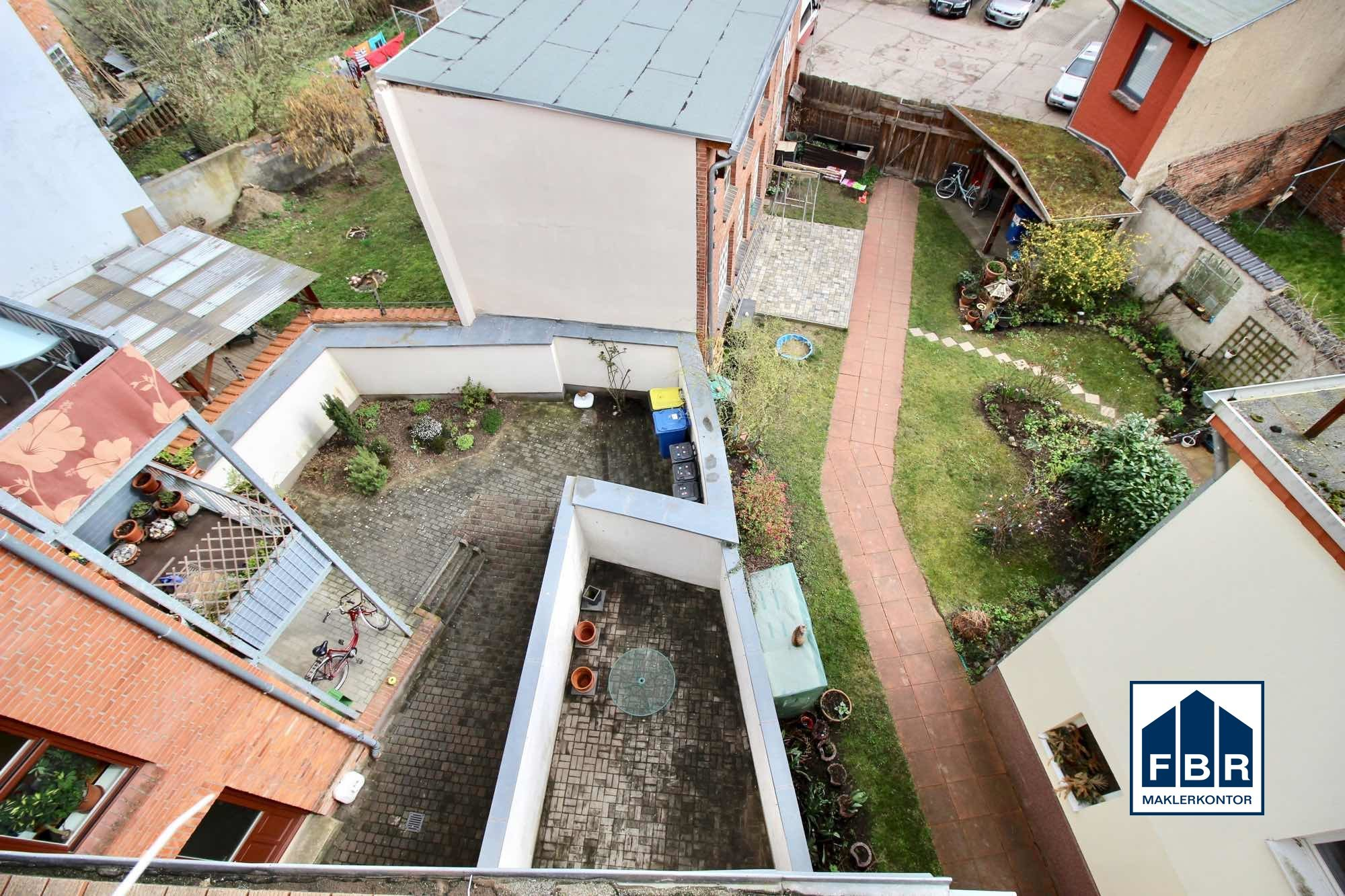 Blick in den Hinterhof