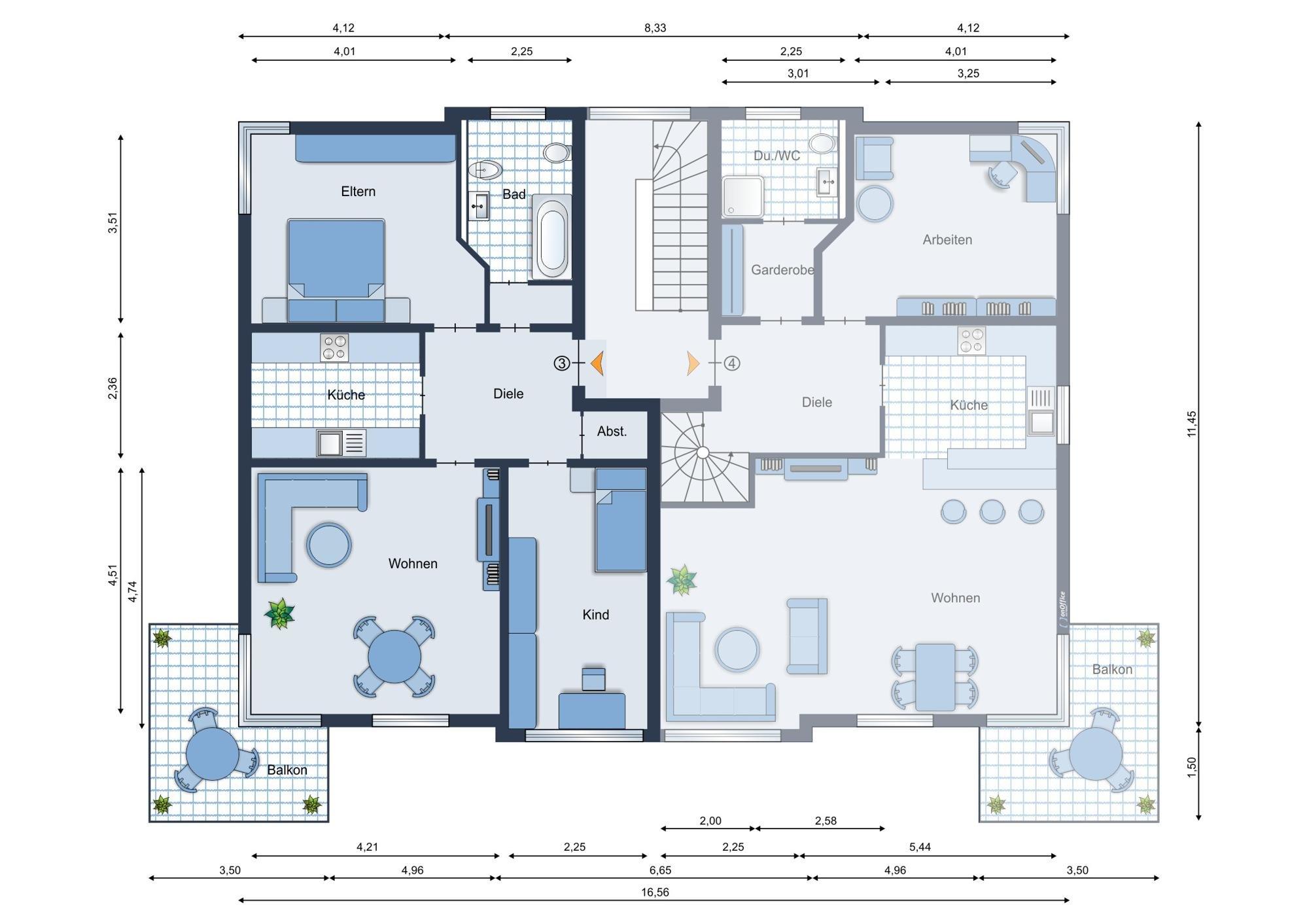 Möbliervorschlag Wohnung