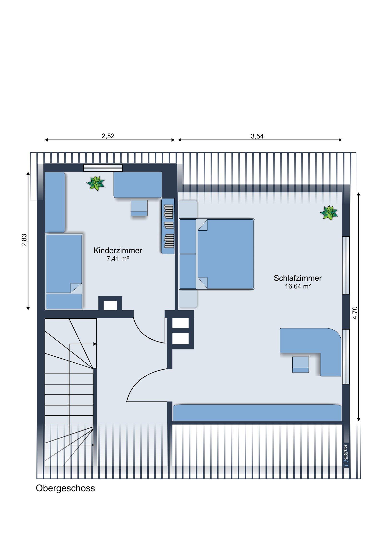 Möbliervorschlag Obergeschoss