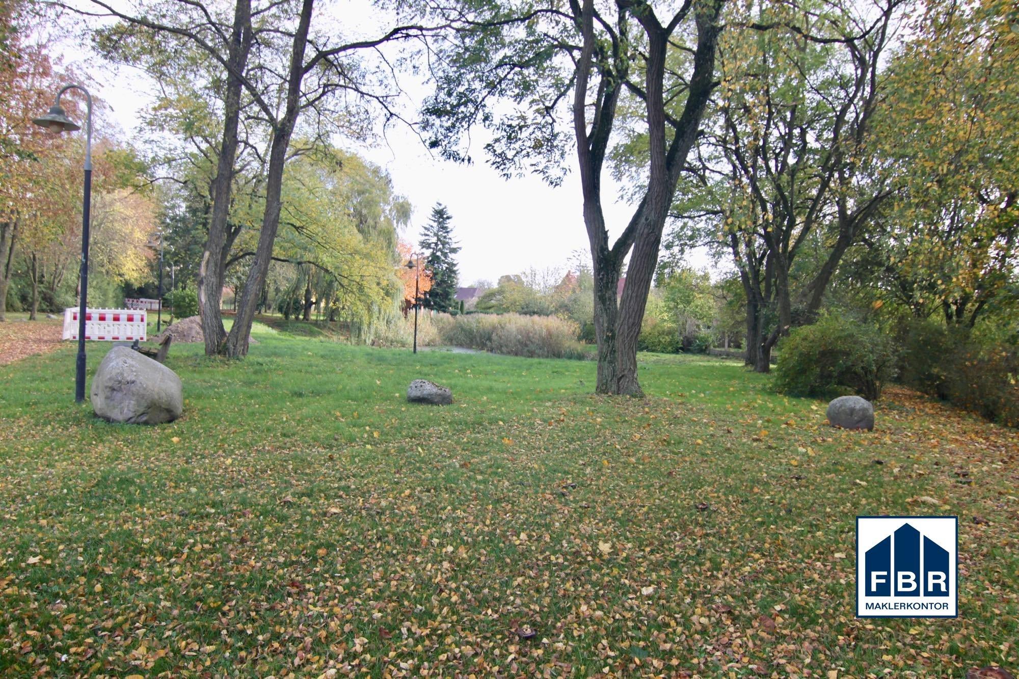 kleiner Park mit Teich