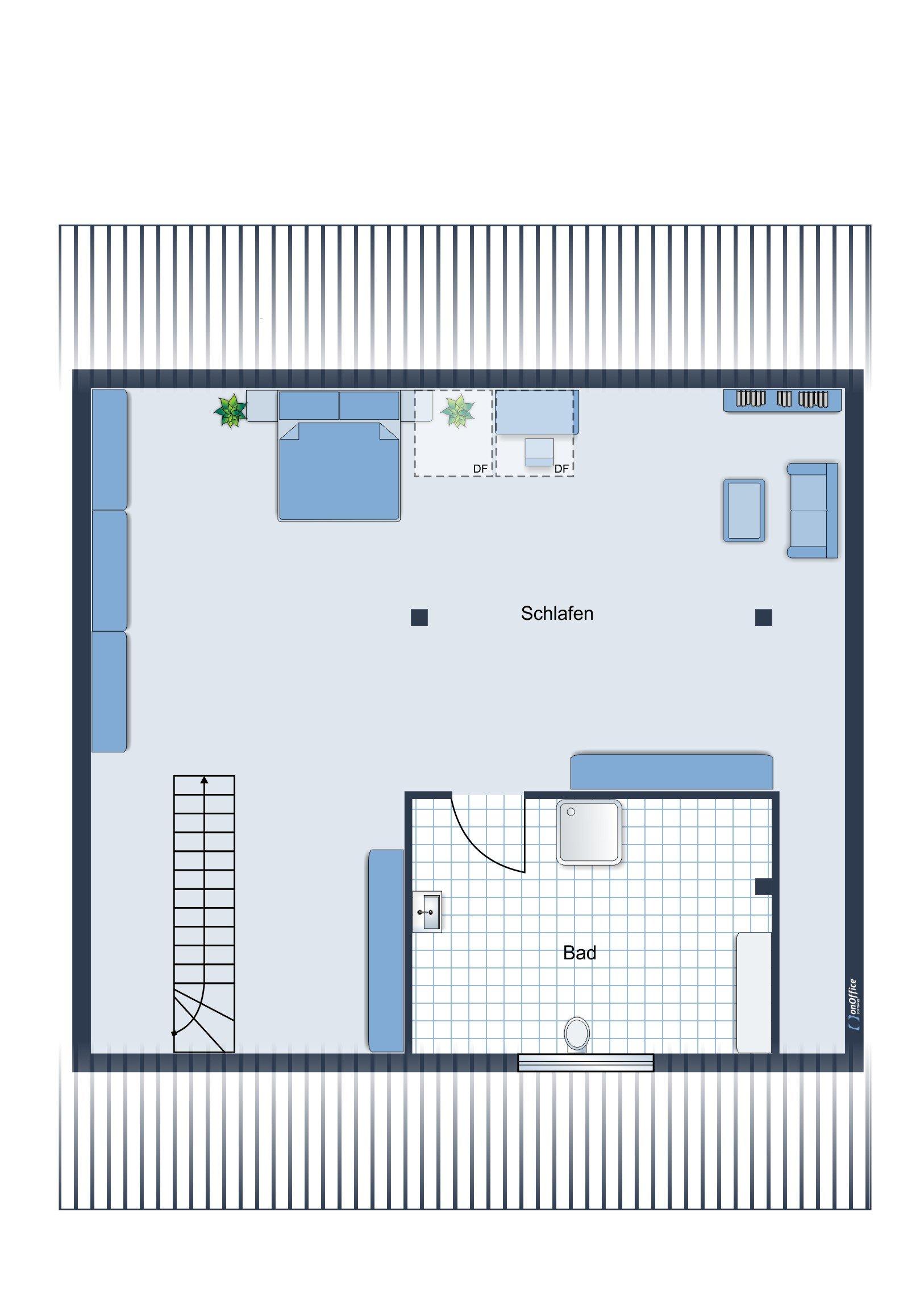 Möbliervorschlag 2. Ebene