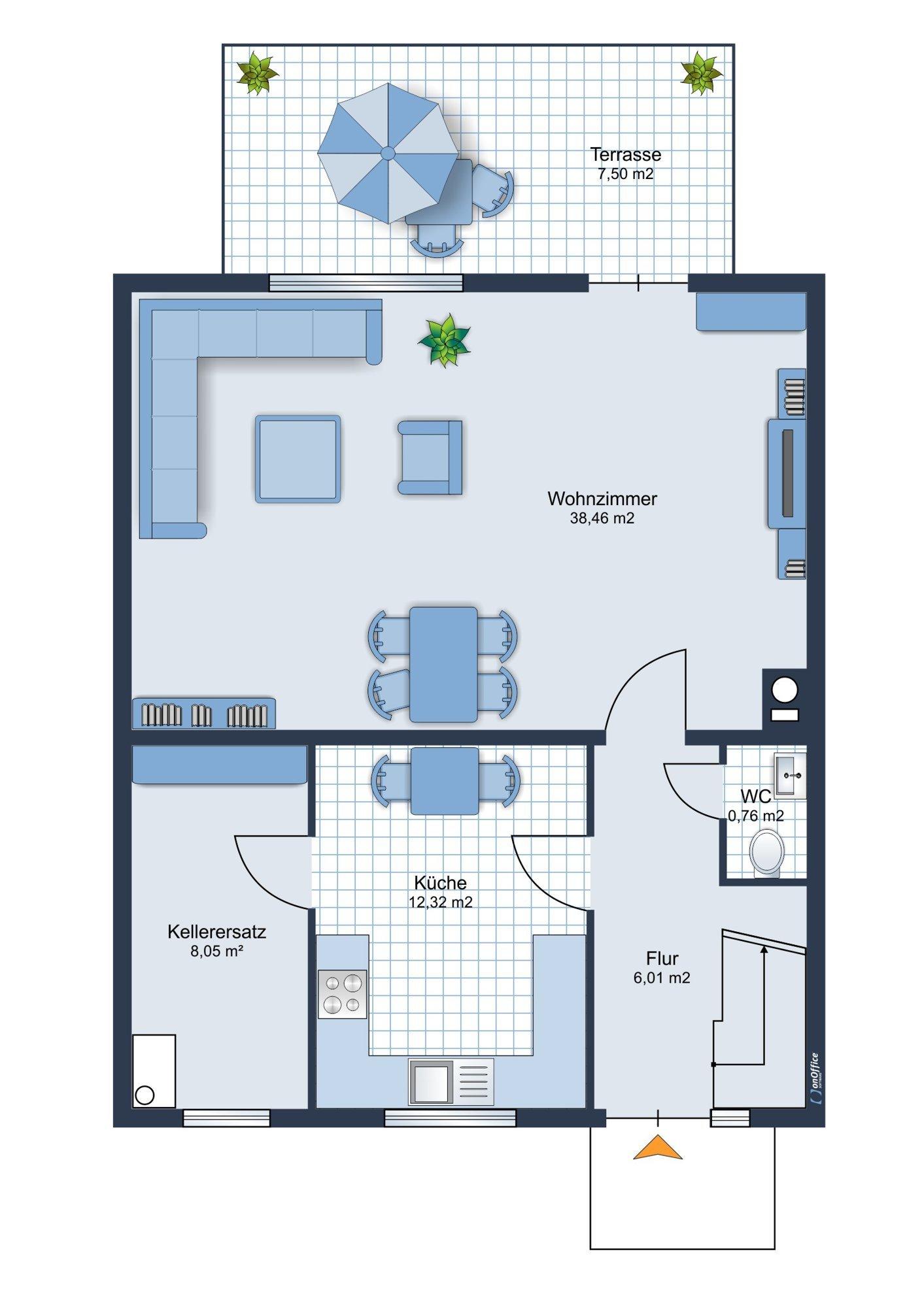 Möbliervorschlag Erdgeschoss