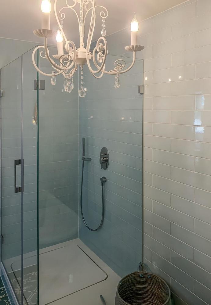 Dusche, hochkant
