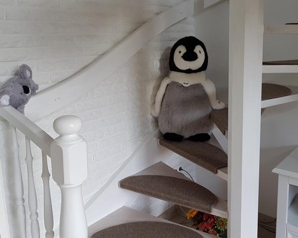 Wendeltreppe nach oben zur Galerie