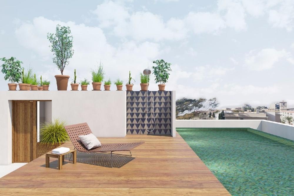 Dachterrasse Poolbereich